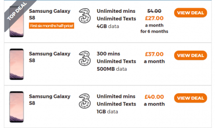 Three UK offering 50% discount on Galaxy S8 and LG K3 for 6 months