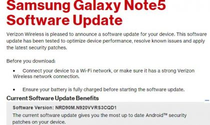 Verizon Galaxy Note 5 and S6 Edge Plus update brings April security patch