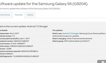AT&T Galaxy S6, S6 Edge and S6 Active get Android 7.0 Nougat update