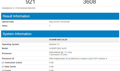 Huawei Nova 2 Plus hits Geekbench with Kirin 655 processor and 4GB RAM