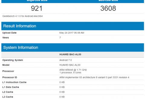 Huawei Nova 2 Plus hits Geekbench with Kirin 655 processor and 4GB RAM