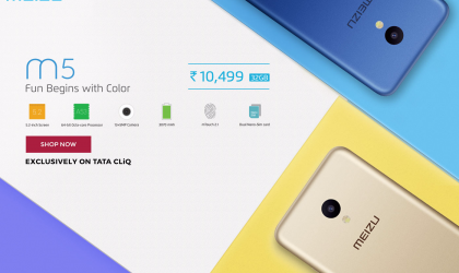 Meizu M5 launch price set at INR 10,499 in India