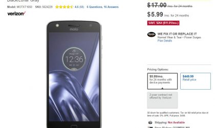 [Hot Deal] Grab a Verizon Moto Z Play for just $144 at Best Buy