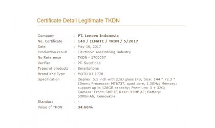 Moto E4 Plus (XT1770) specs revealed via P3DN listing