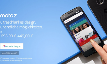 Deal: Moto Z gets 250 Euros off in Germany, available for 449 Euros