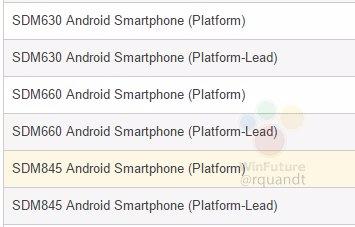 Snapdragon 845 gets listed on Qualcomm's website