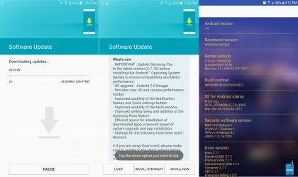 Galaxy Note 5 update with Android 7.0 Nougat roling out in Europe, build N920IDVU3CQD3