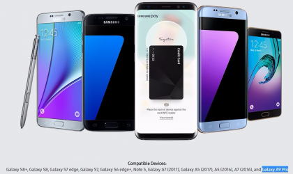 Samsung Pay now compatible with Galaxy A9 Pro in India