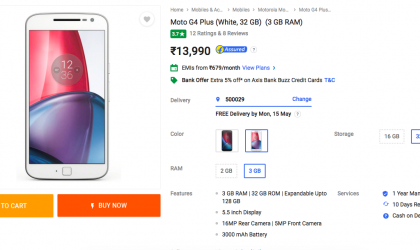 Moto G4 Plus Deal: Get 3GB+32GB variant in white for INR 13,990 (INR 2000 off)