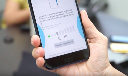 HTC U11 first hands-on video shows off Edge Sense
