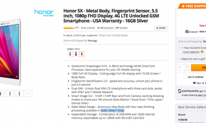 [Deal] Get a Huawei Honor 5X for $140 at Newegg with this coupon