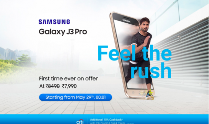 Samsung Galaxy J3 Pro coming on sale to Flipkart for INR 7,990