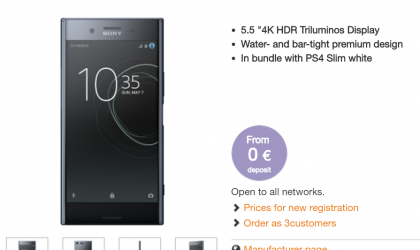3 Austria launches Sony XZ Premium with free PS4 Slim on pre-order deal