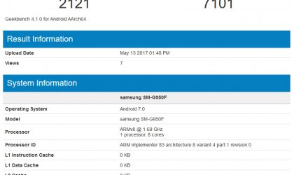 Samsung Galaxy S8 overclocked to achieve 7100+ score in multi-core