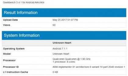 Nokia 9 shows up on Geekbench with 8GB RAM