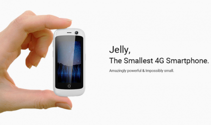 Meet the Jelly phone, the smallest 4G smartphone running Android Nougat