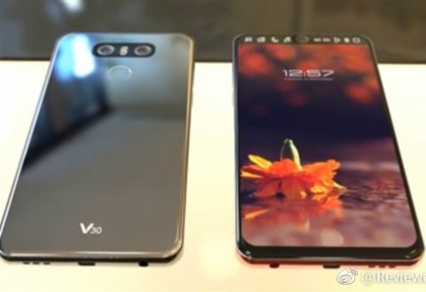 LG V30 with full vision display leaks