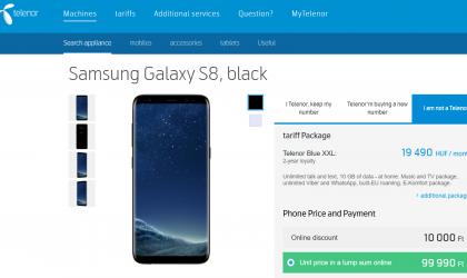 Telenor Hungary launches Galaxy S8, S8 Plus and Sony Xperia XA1