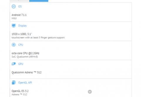 Xiaomi Mi6C (Jason) shows up on GFXBench