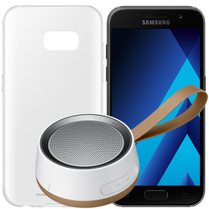 Three Austria offering Galaxy A3 and A5 2017 with free Samsung Scoop speakers worth £39 and clear case