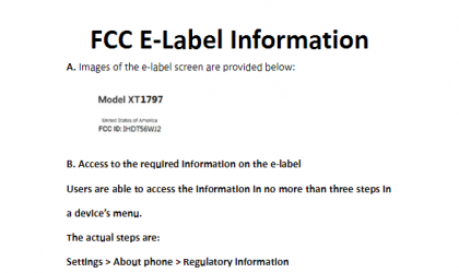 US headed unknown Motorola device (XT1797) passes through FCC