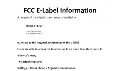US headed unknown Motorola device (XT1797) passes through FCC