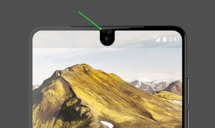 Essential Phone has LED notification light above the front camera