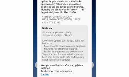 Galaxy S8 and S8 Plus update rolling out in US with May security patch and improvements to Bixby