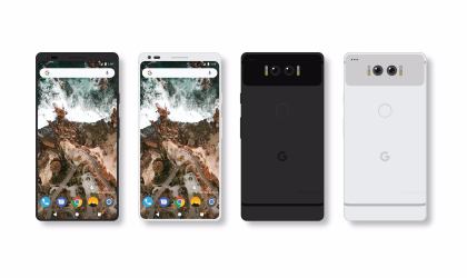 This Google Pixel 2 mockup with full screen display looks great