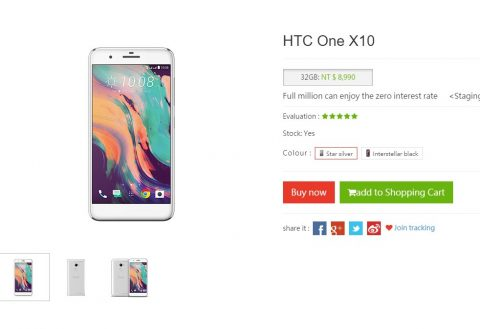 HTC One X10 goes on sale in Taiwan; priced at NT$8,990 (USD 300)