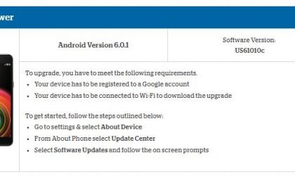 LG X Power at US Cellular receives software update to version US61010c