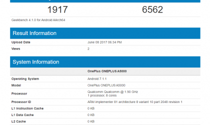 OnePlus 5 with 8GB RAM shows up on GeekBench
