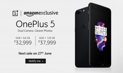 OnePlus 5 to go on sale again on June 27th in India