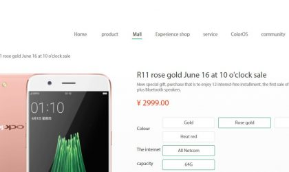 Oppo R11 goes on sale in China