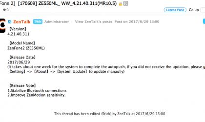 Asus ZenFone 2 receives update with bug fixes