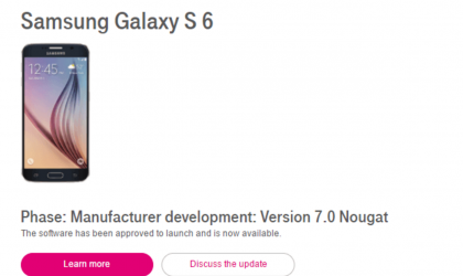 T-Mobile begins rollout of Galaxy S6 Nougat update