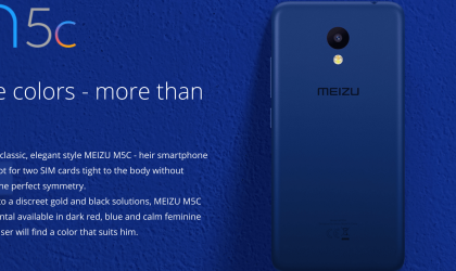 Meizu M5c launched in Russia for 8990 rubles ($160)