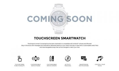 Armani to launch its first Android Wear Smartwatch in September