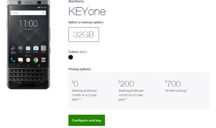 BlackBerry KeyOne now available for purchase at Telus Canada