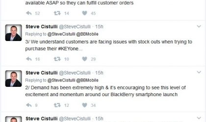 BlackBerry KEYone goes out of stock in USA