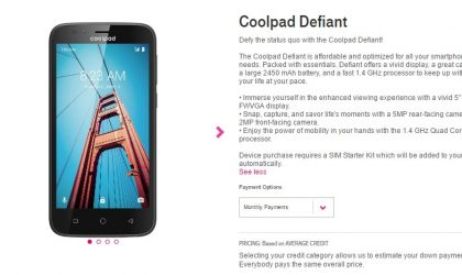 T-Mobile launches Coolpad Defiant for $100 in US