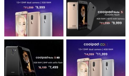 Amazon India offering discount on Coolpad Cool 1, Note 5 and Note 5 Lite