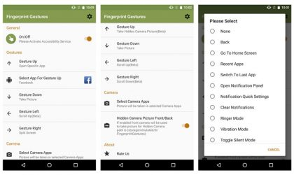 Android O supported Fingerprint Gestures app enables a host actions for the fingerprint scanner on your phone