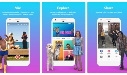 Now add holograms of real people and animals into your videos with this app