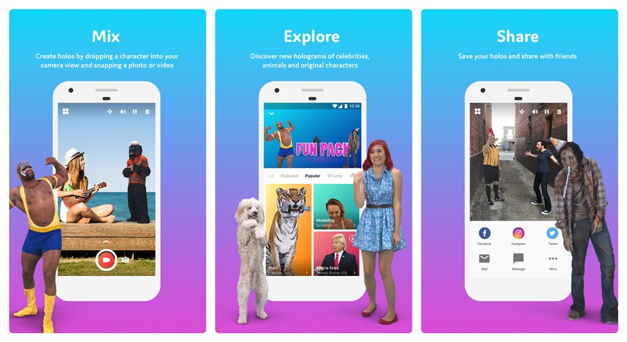 Image of: Zoo Now Add Holograms Of Real People And Animals Into Your Videos With This App Music Videos Now Add Holograms Of Real People And Animals Into Your Videos With