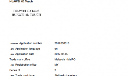 Huawei 4D Touch applied for trademark, could debut with Mate 10