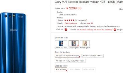 Huawei Honor 9 price set 2299 Yuan at launch