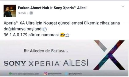 Sony Xperia XA Ultra Nougat update begins rolling out in Turkey, build 36.1.A.0.179