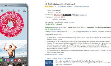 [Deal] LG G6 selling for just INR 38,990 in India [29% off]