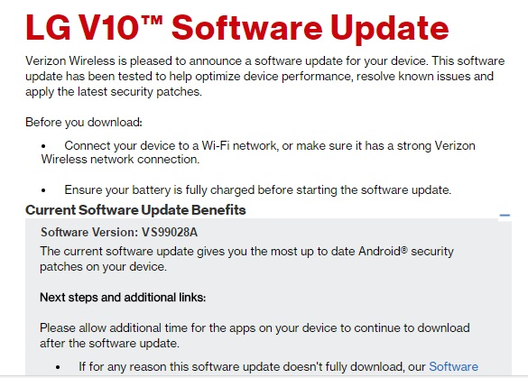 Verizon LG G4 and LG V10 receiving OTA update with latest